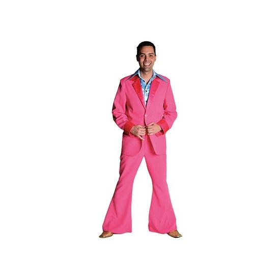 Roze disco kleding voor heren