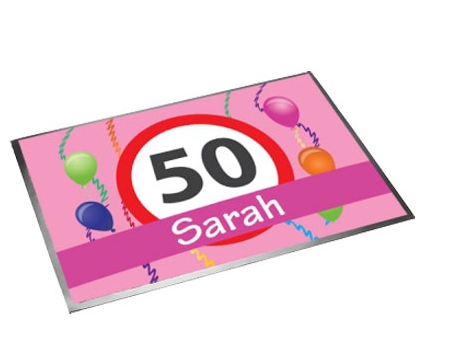 Sarah 50 jaar deurmatten