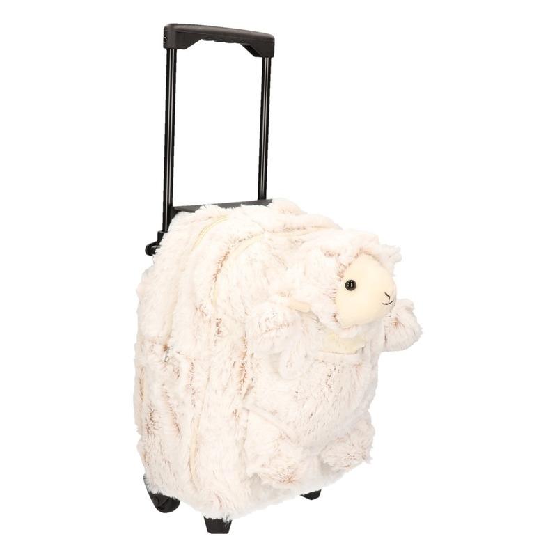 Schoolreisje koffer pluche schaap 35 cm