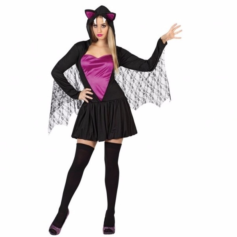 Sexy Halloween kleding vleermuis jurkje