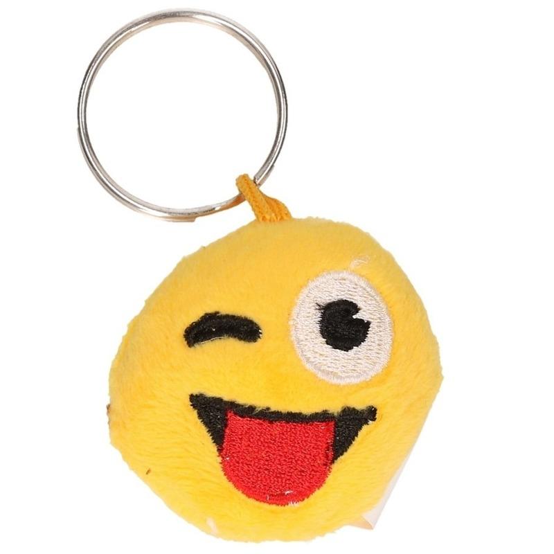 Sleutel hanger smiley crazy face