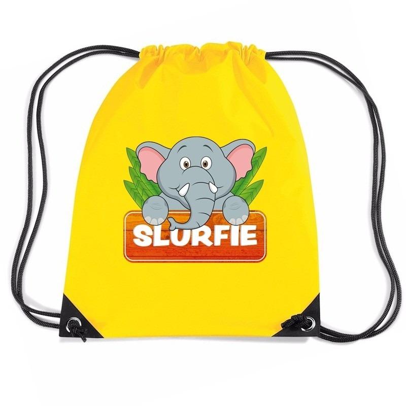 Slurfie de Olifant rugtas / gymtas geel voor kinderen