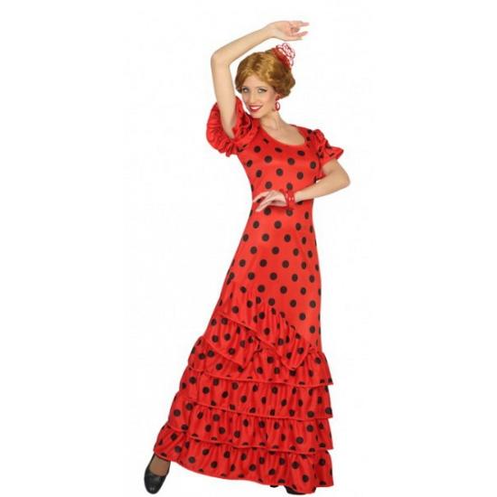 ac06460992ab46 Feestartikelen met  carnaval-spaanse-flamenco-jurk-zwart-wit