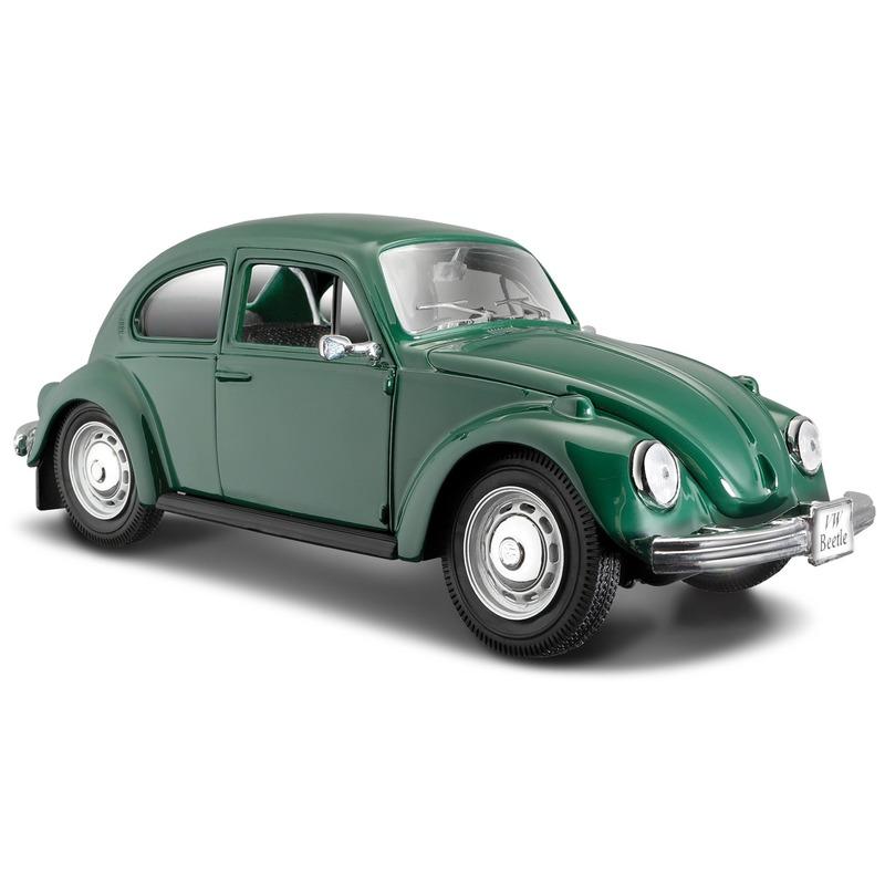 Speelgoed auto Volkswagen Kever groen 1:24