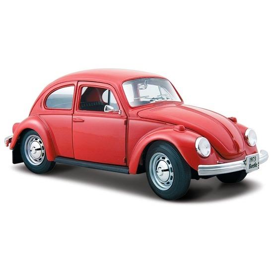 Speelgoed auto Volkswagen Kever rood 1:24