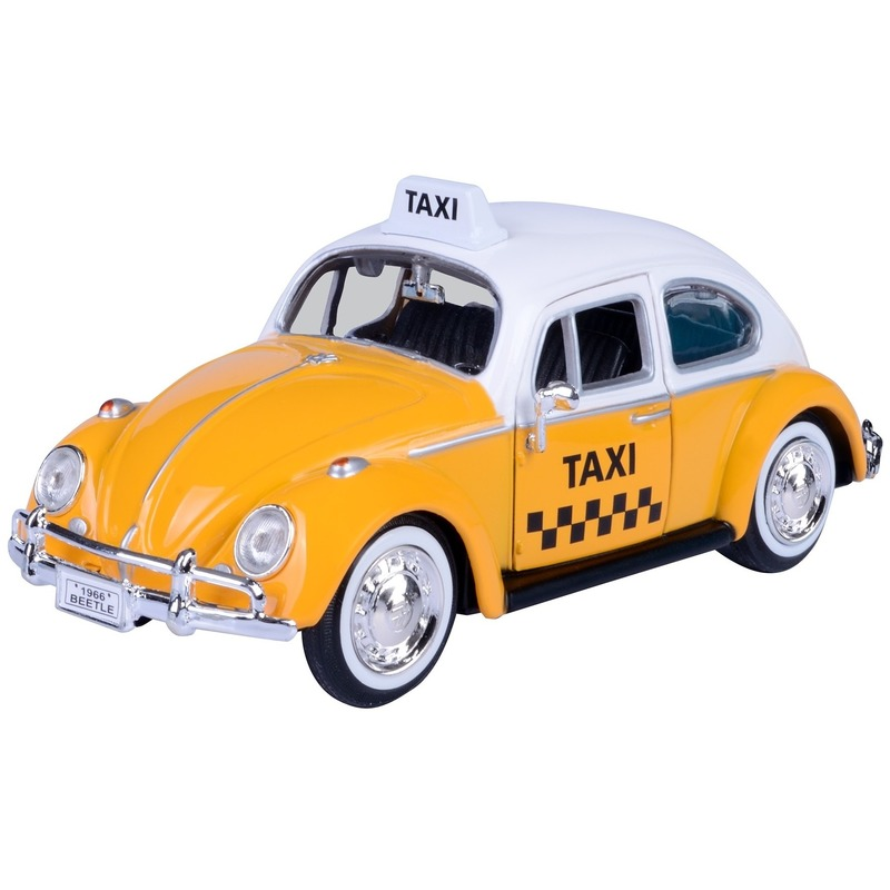 Speelgoed auto Volkswagen Kever taxi 1:24