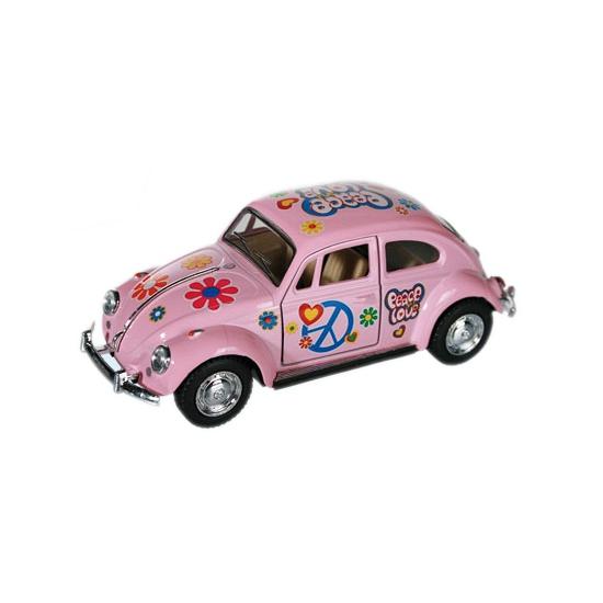 Speelgoed auto VW kever roze