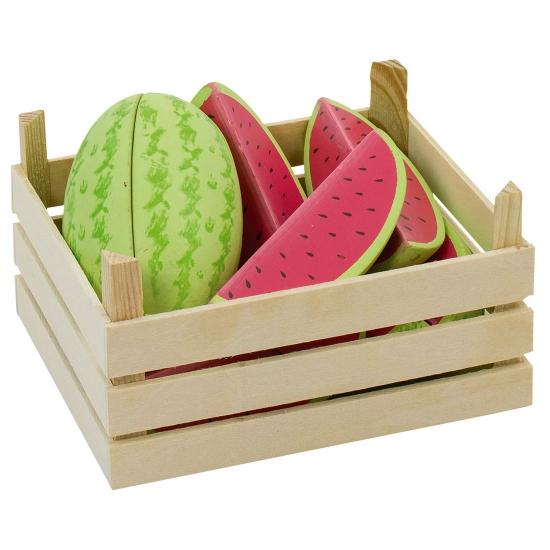 Speelgoed kunst meloenen hout