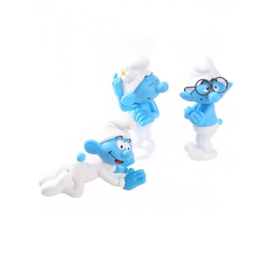 Speelgoed Smurfjes 3 stuks 13 cm