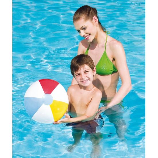 Speelgoed strandbal gekleurd 41 cm