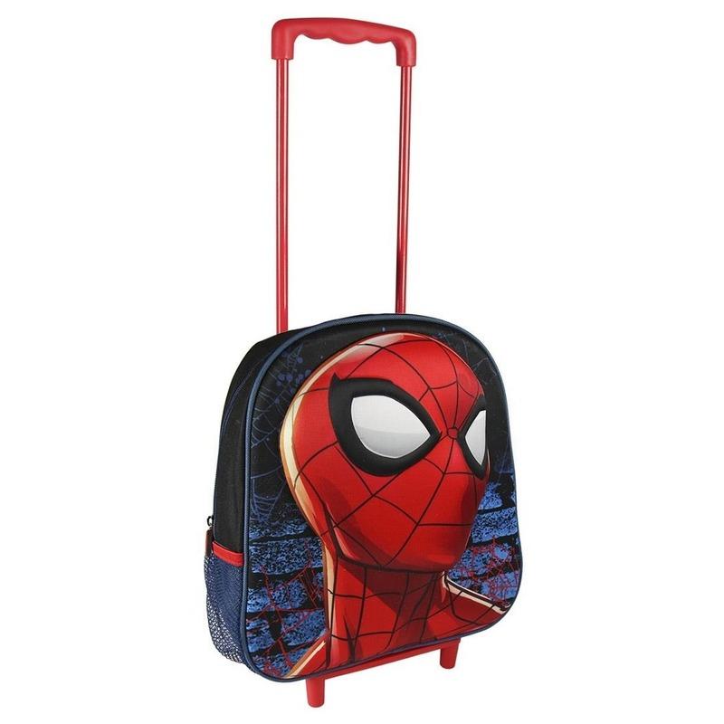 Spiderman rolkoffer rood voor jongens