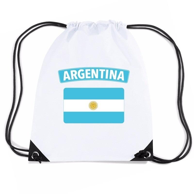 Sporttas met trekkoord vlag Argentinie