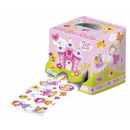 Sticker rol met prinsessen thema