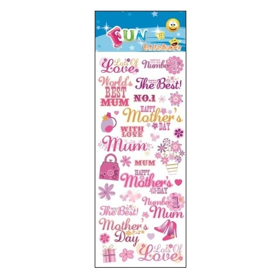Stickertjes moederdag/mamadag