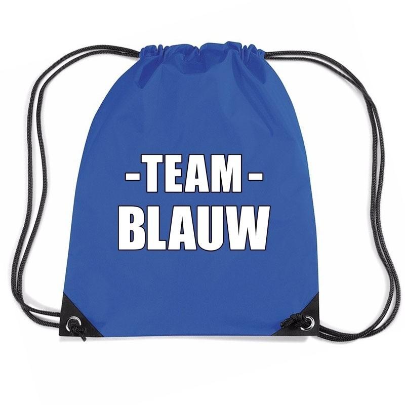 Team blauw rugtas voor training