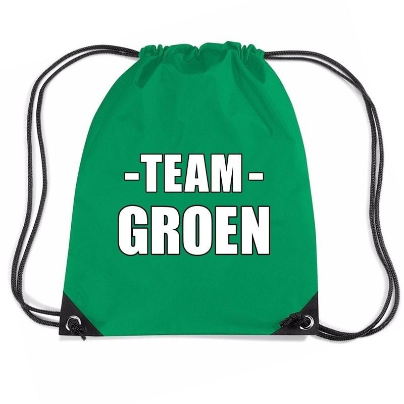 Team groen rugtas voor training