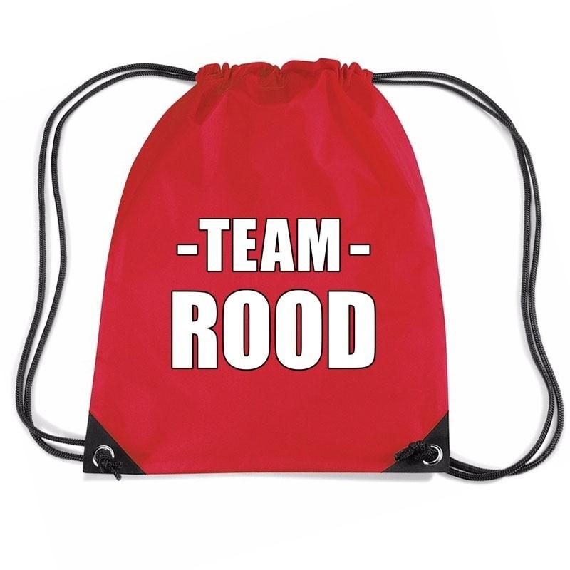 Team rood rugtas voor training