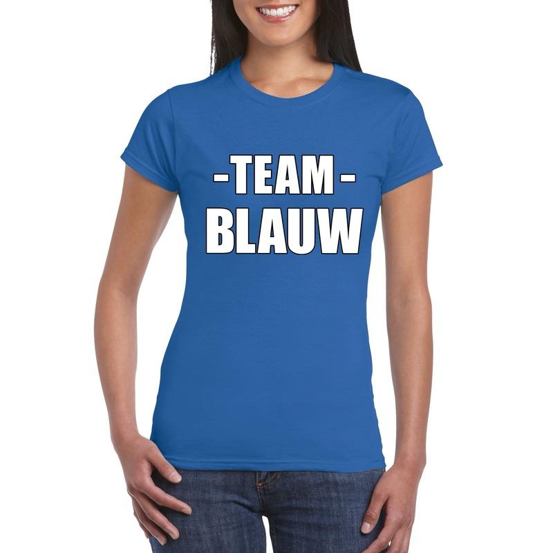 Team shirt blauw dames voor training