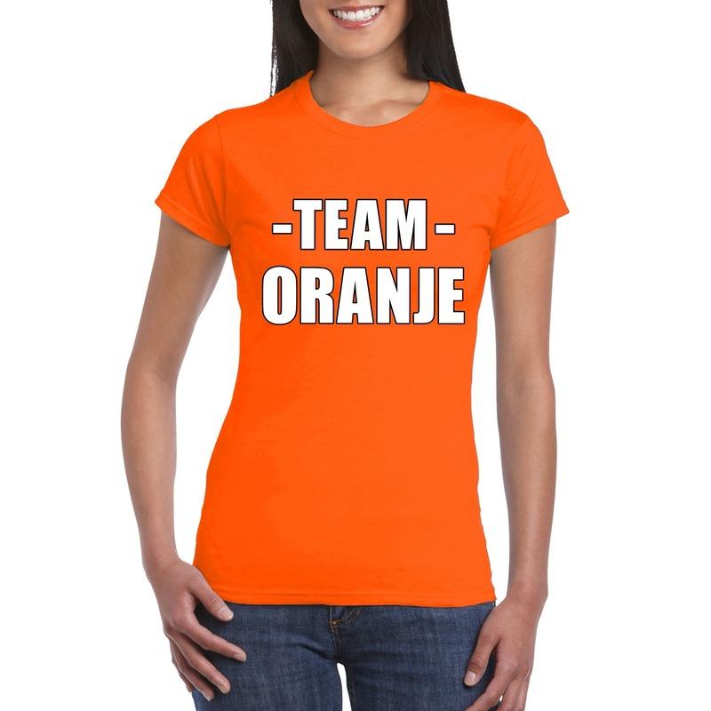 Team shirt oranje dames voor training