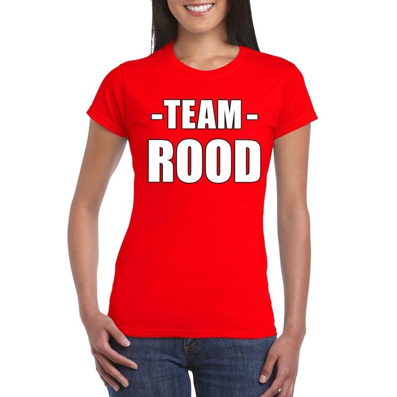 Team shirt rood dames voor training