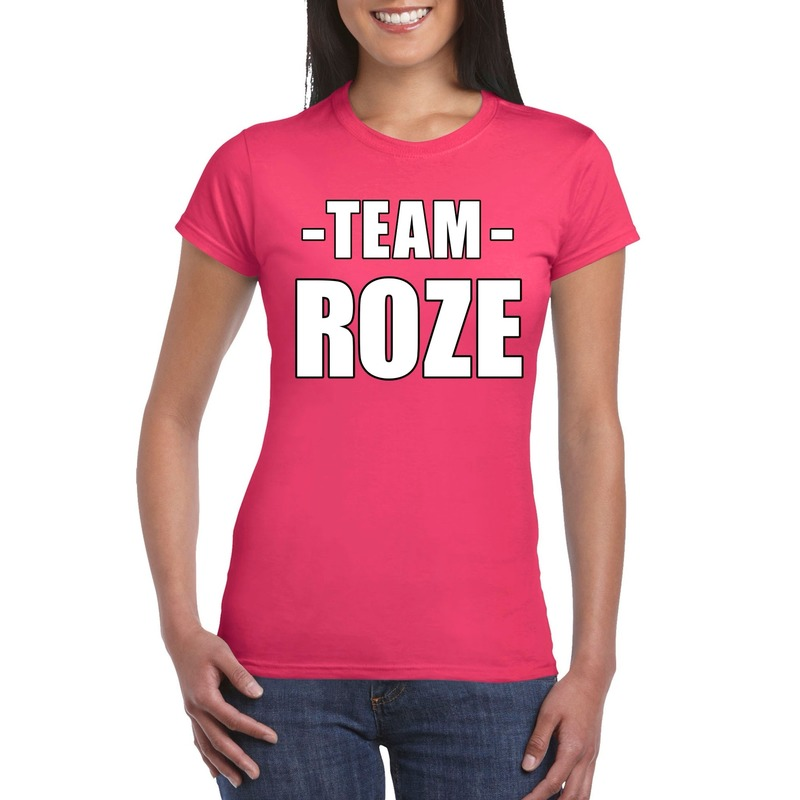 Team shirt roze dames voor training