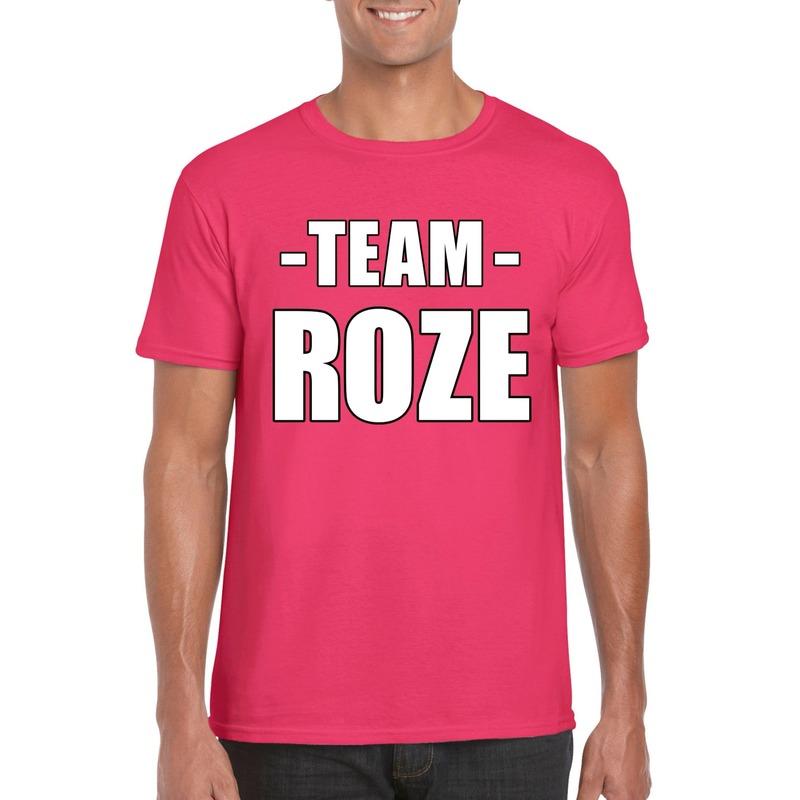 Team shirt roze heren voor training