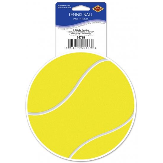 Tennisbal sticker decoratie 13 cm