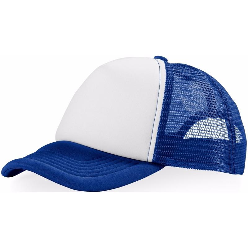 Truckers cap blauw/wit