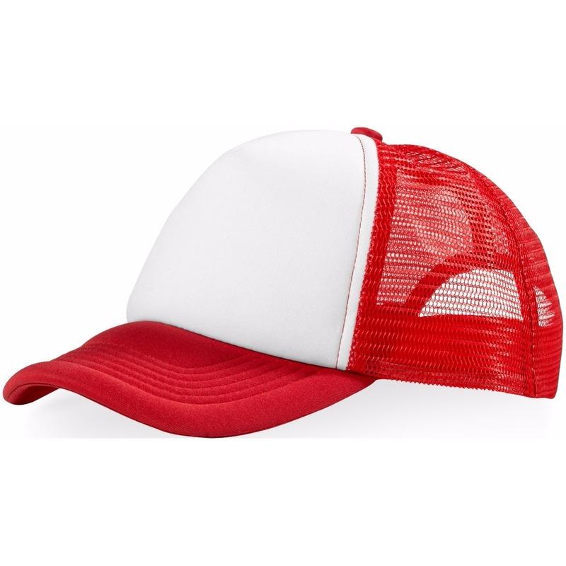 Truckers cap rood/wit