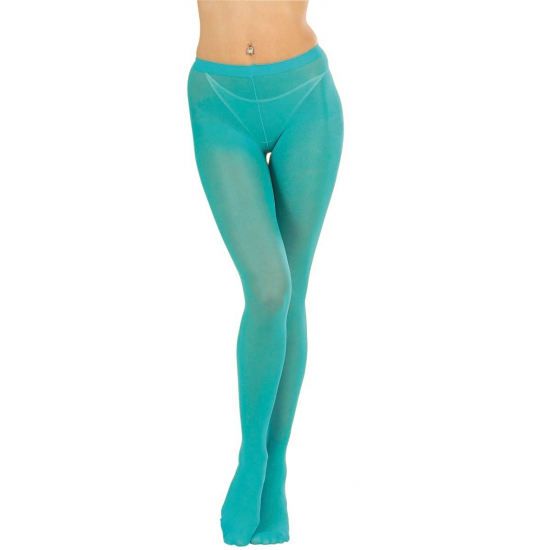 Turquoise pantys voor dames