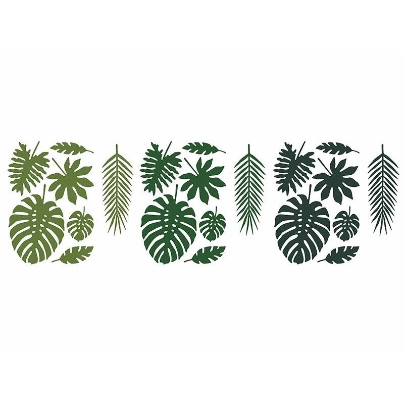 Versiering papieren jungle bladeren 21 stuks