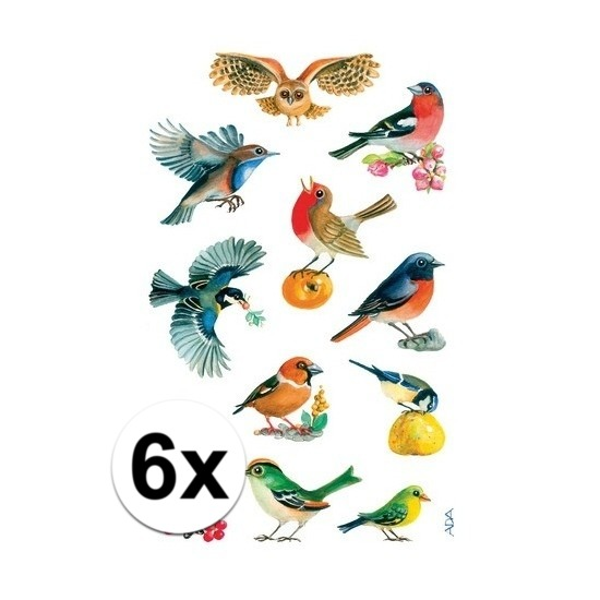 Vogel stickers 6 vellen