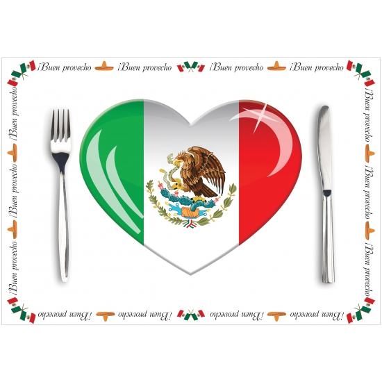 Voordelige papieren Mexico placemats