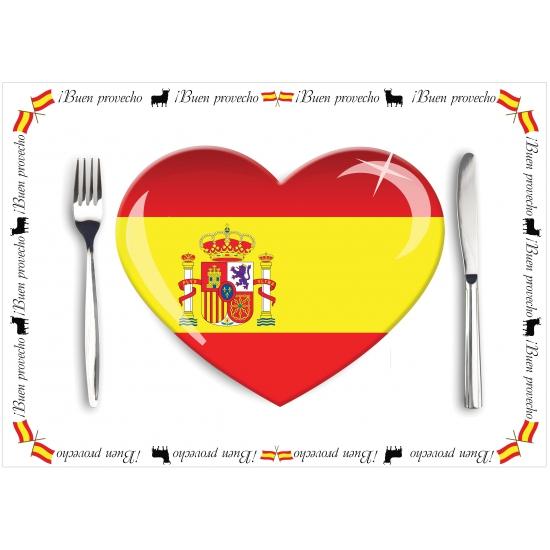 Voordelige papieren Spanje placemats