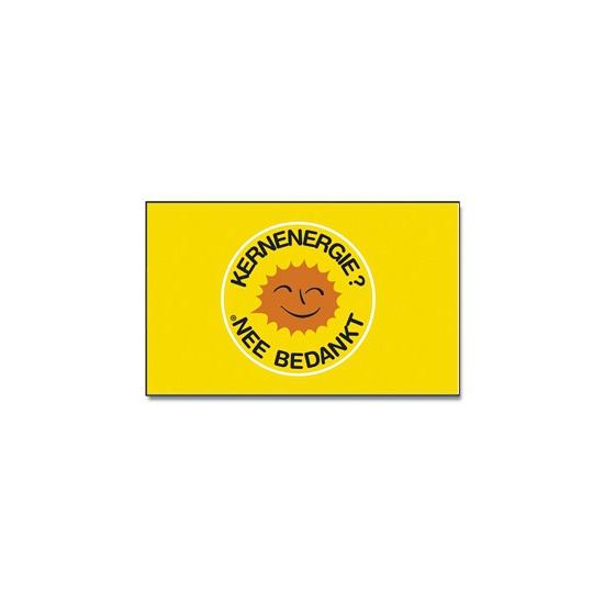 Voordelige vlag Kernenergie nee bedankt