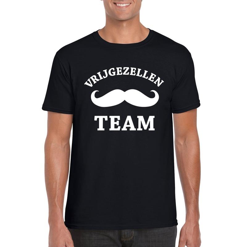 Vrijgezellenfeest Team t-shirt zwart heren
