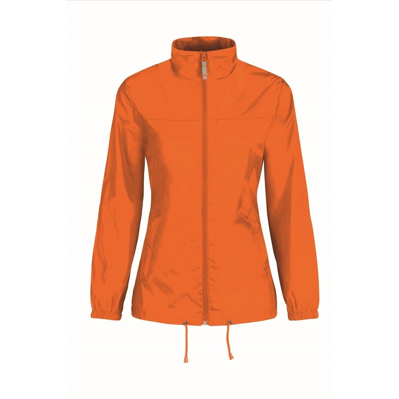 Windbreakers dames/vrouwen oranje