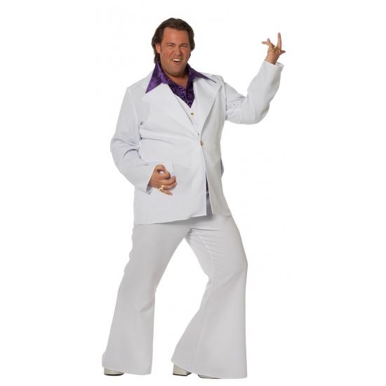 Witte verkleed kleding voor heren in grote maat