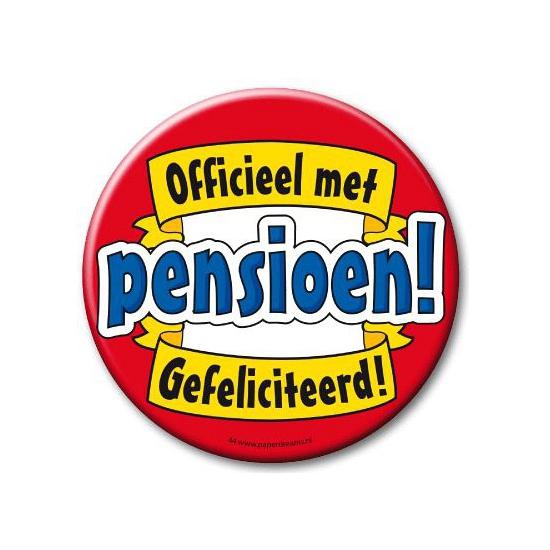 XXL button met pensioen feestartikelen