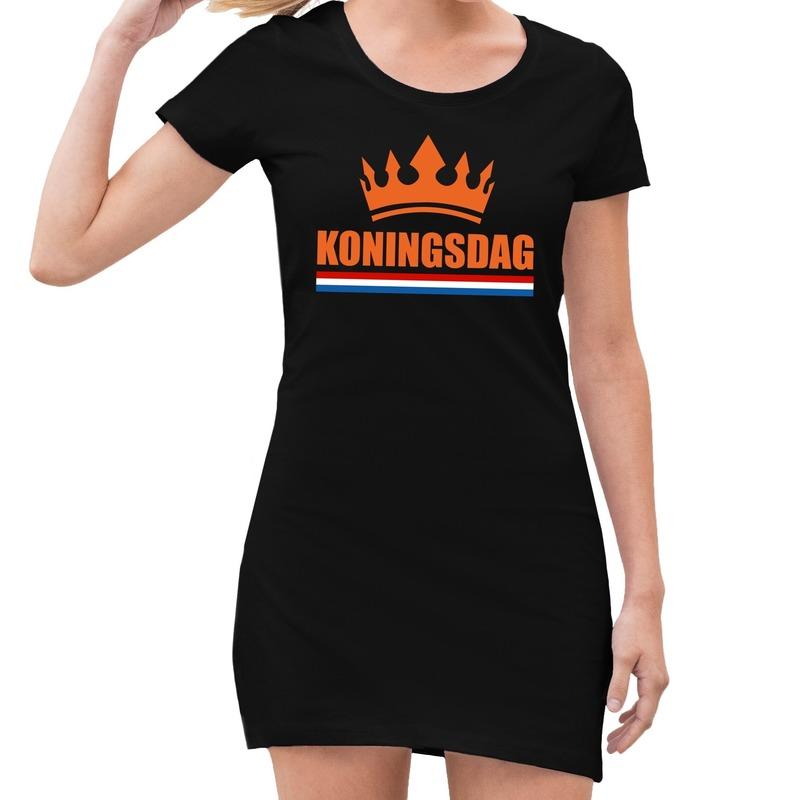 Zwart Koningsdag kroon jurk dames