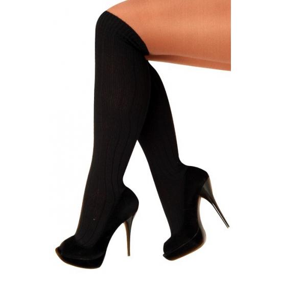 Zwarte lange sokken maat 41-47