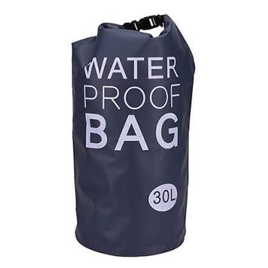 Zwarte waterdichte tas 30 liter