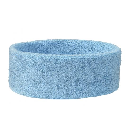 Zweetbandjes haarbandjes lichtblauw