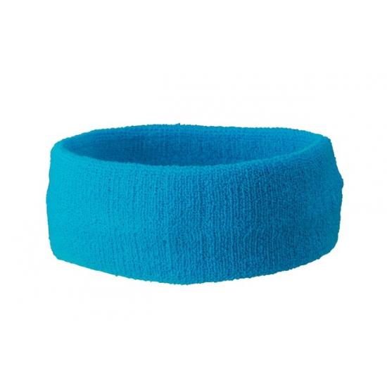 Zweetbandjes haarbandjes turquoise