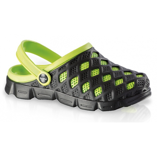 Zwem sandalen zwart/groen voor dames